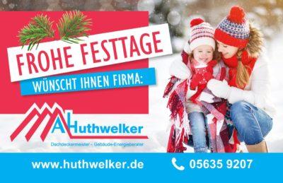 Dachdecker Huthwelker in Korbach Weihnachten